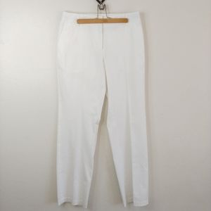 "Liz Claiborne ""Jackie"" white slacks"